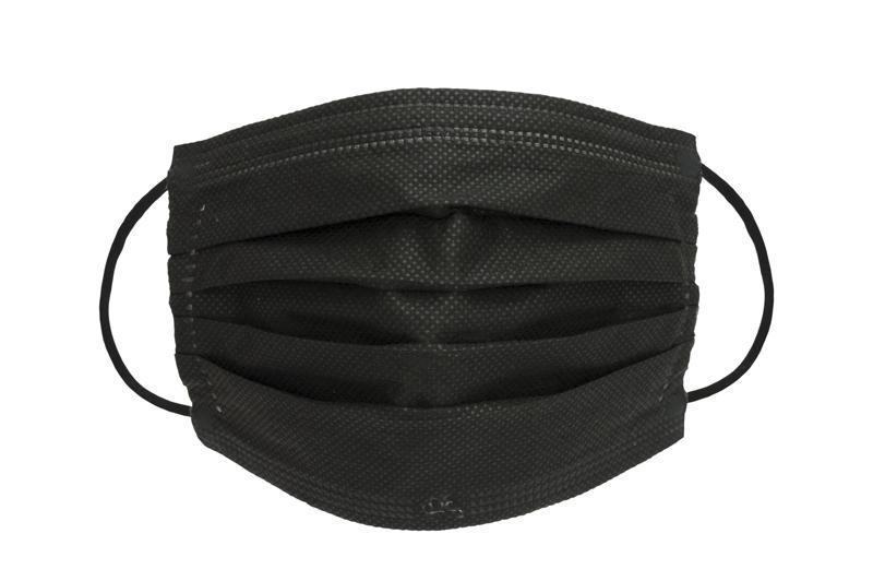 Schwarze Premiumtex medizinische Mundnasenmasken